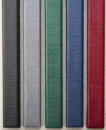 Цветные каналы с покрытием «ткань» O.CHANNEL А4 304 мм 10 мм, черные