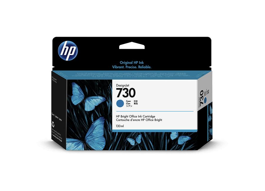 Картридж HP Designjet 730 голубой (Cyan) 130 мл (P2V62A) картридж hp 728 f9j63a cyan 40 мл