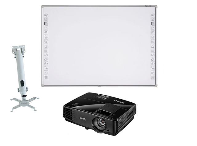 Интерактивная доска R3-800 в комплекте с проектором BenQ MS506 и креплением Classic Solution CS-PRS-2