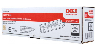 Тонер-картридж TONER-K-C810-8K-NEU (44059108 / 44059120) 4 pack high quality toner cartridge oki c801 c810 c821 c830 mc860 c861 color full compatible 4406412 4406411 4406410 4406409