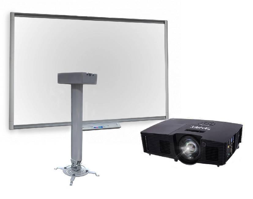 Купить Интерактивная доска Board SB480 с ключом активации Notebook, с мультимедийным проектором V10 и креплением Digis DSM-14Kw, SMART