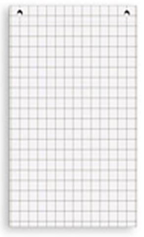 Комплект блоков бумаги для флипчартов (универсальный, клетка) блок бумаги для флипчартов 20 л 650х980 мм клетка 5 блоков