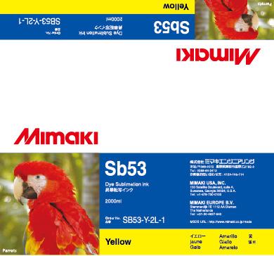 Чернила Mimaki SB53 Yellow