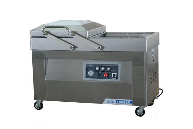 Напольная 2-x камерная вакуум-упаковочная машина HL DZ-610/2SA (нерж.)