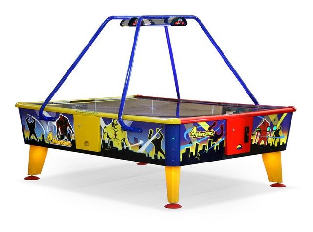 Игровой стол Аэрохоккей Wik 4 Monsters (жетоноприемник)