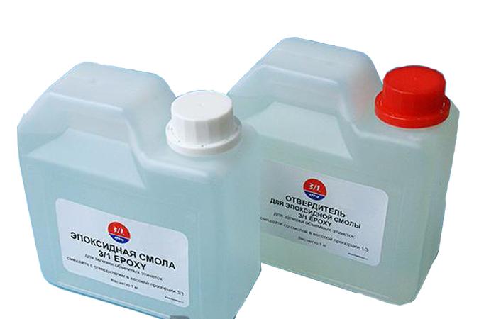 Комплект из эпоксидной смолы Epoxy E-1160 и отвердителя Hardener H-1160, 3/1, гибкая
