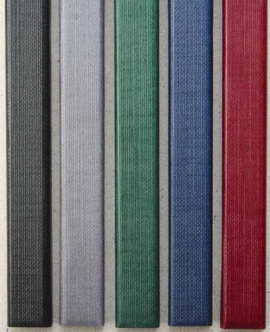 Цветные каналы с покрытием «ткань» O.CHANNEL SLIM А4 304 мм 16 мм, бордо