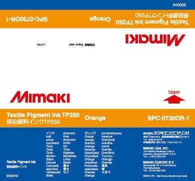 Купить Чернила Mimaki TP250 Orange в официальном интернет-магазине оргтехники, банковского и полиграфического оборудования. Выгодные цены на широкий ассортимент оргтехники, банковского оборудования и полиграфического оборудования. Быстрая доставка по всей стране