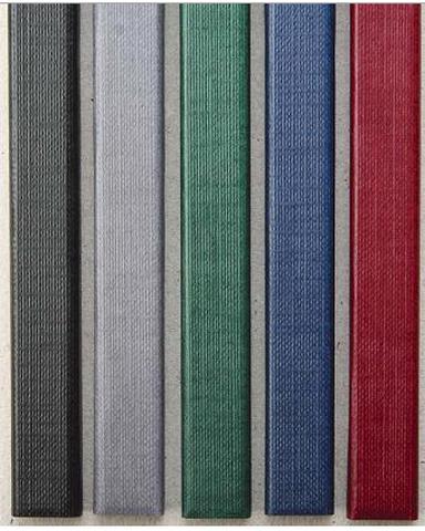 Цветные каналы с покрытием «ткань» O.CHANNEL SLIM А4 304 мм 7 мм, серый