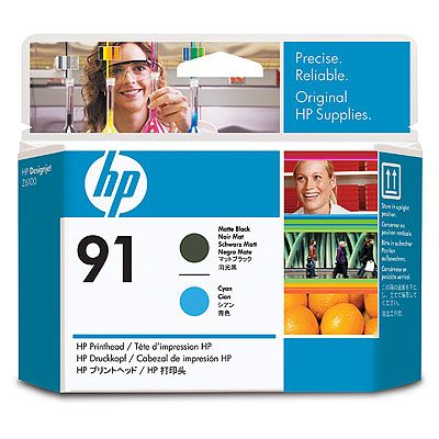 Печатающая головка HP Printhead HP 91 Matte Black and Cyan (C9460A) cn642a for hp 178 364 564 564xl 4 colors printhead for hp 5510 5511 5512 5514 5515 b209a b210a c309a c310a 3070a b8550 d7560