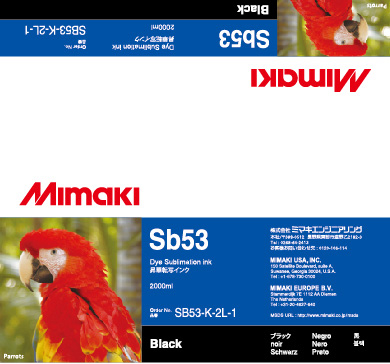 Чернила SB53 Black mimaki jv33 sb53 cartridge 4 colors cmyk permanent chip