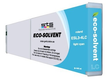 ECO-Solvent Light Cyan 440 мл (ESL3-4LC) solvent based unlocked dx7 print head for epson mimaki mutoh roland chinese eco solvent plotter printer