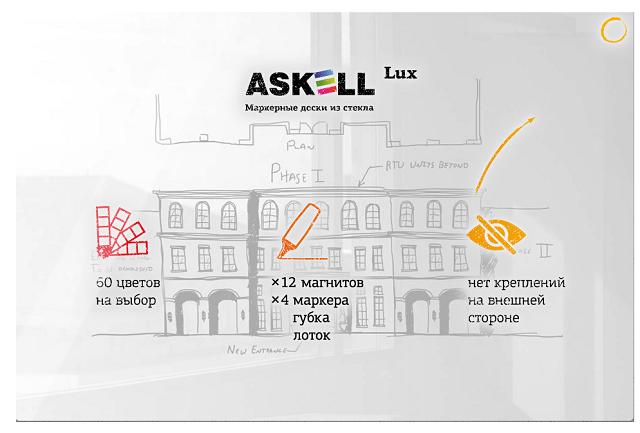 Стеклянная доска Askell Lux S120240