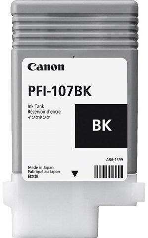 Картридж Canon Black PFI-107 BK (черный), 90 мл