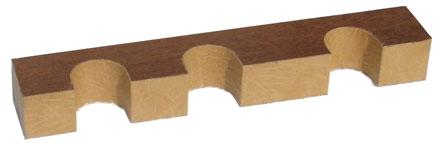 Верхний ложемент с отделкой кожей на 3 ствола