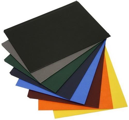 Твердые обложки O.HARD COVER Classic slim 304x212 мм с покрытием «ткань» без окна, синие