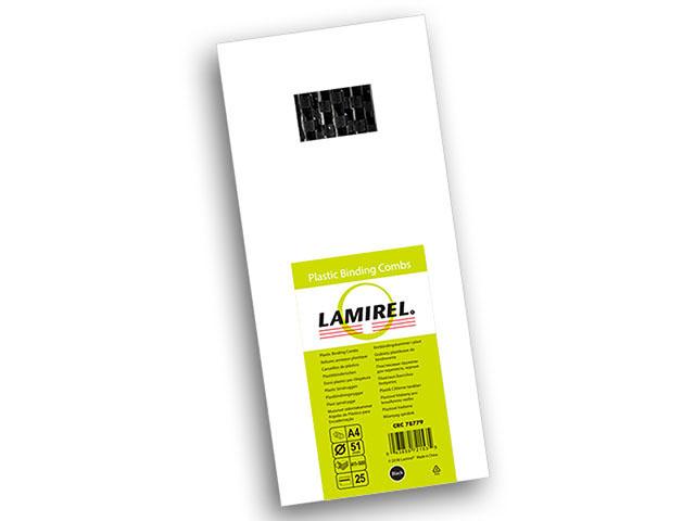 Пластиковая пружина Lamirel, диаметр 51 мм, черная, 25 шт