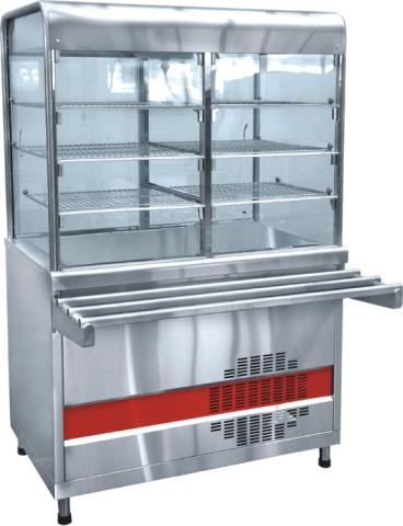 Прилавок-витрина холодильный «Аста» ПВВ-70КМ-С-01-НШ