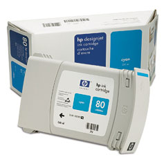 Картридж HP Inkjet Cartridge №80 Cyan (C4846A) картридж hp c4846a для designjet 1050 1055 голубой