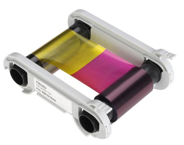 Полноцветная лента Evolis YMCKO+K R3314 (монохромная вторая сторона)