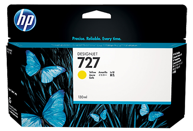 Картридж HP Pigment Ink Cartridge №727 Yellow (B3P21A) картридж hp pigment ink cartridge 70 black z2100 3100 3200 c9449a