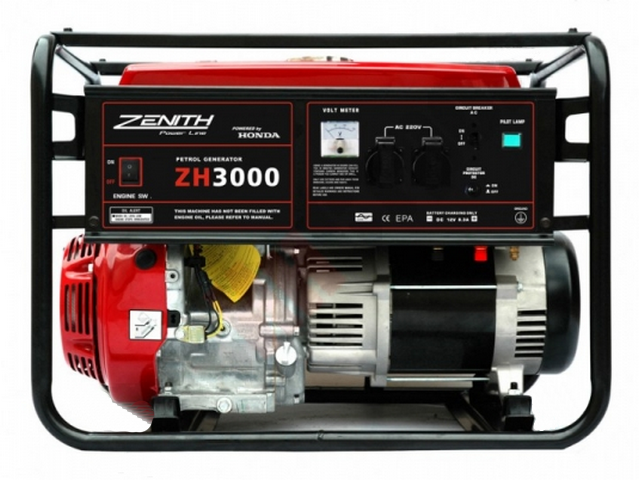 Бензиновый генератор_Zenith ZH3000