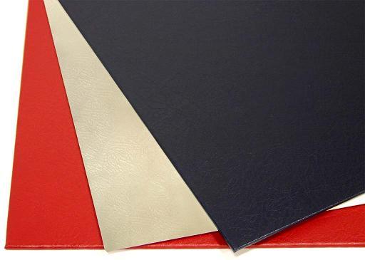 Твердые обложки O.HARD COVER Mundial 217x300 мм с покрытием «кожа» без окна, черные