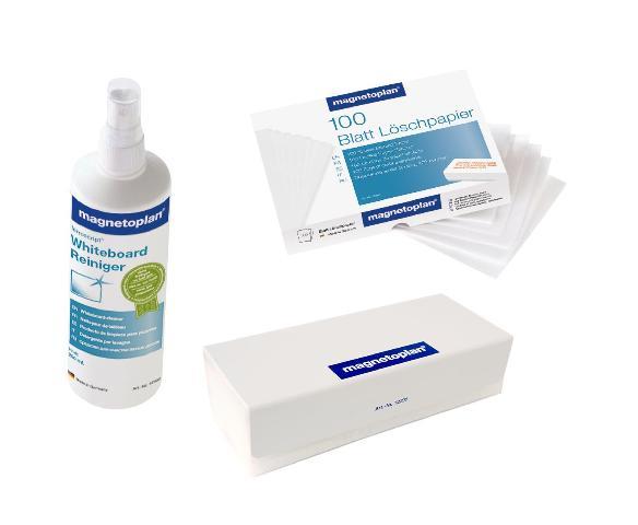 Набор чистящих средств для досок (стиратель, салфетки, спрей) спрей очиститель для маркерных досок silwerhof white board clean 250мл 671209