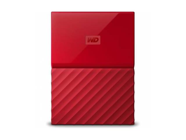 Внешний жесткий диск My Passport 1ТБ (WDBBEX0010BRD-EEUE), красный цена 2017