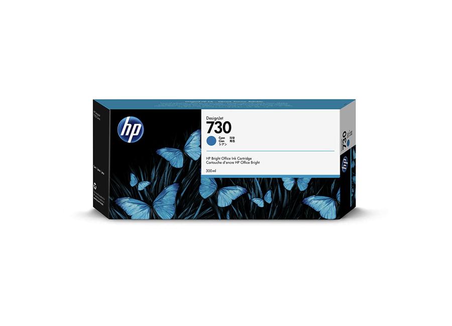 Картридж HP Designjet 730 голубой (Cyan) 300 мл (P2V68A) картридж hp голубой cтруйный картридж hp 80 350 мл