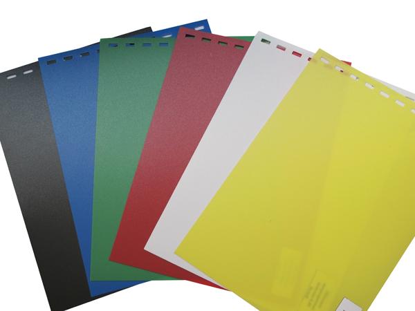 Обложки пластиковые, Непрозрачные (ПП), A4, 0.40 мм, Желтый, 50 шт