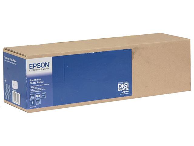 Рулонная бумага_Epson Traditional Photo Paper 17, 432мм х 15м (300 г/м2) (C13S045054)
