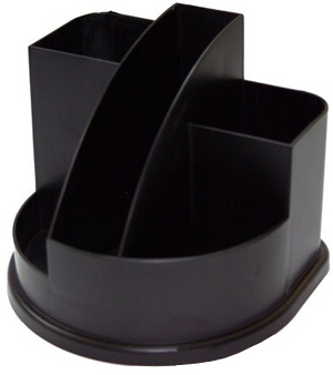 Подставка для ручек и мелочей СТАММ 5 отделений, черная Компания ForOffice 70.000