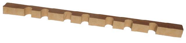 Верхний ложемент с отделкой кожей на 7 стволов bestsafe us8 12 l43