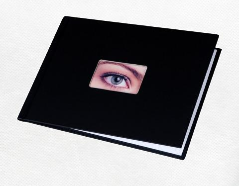Фотообложка_Unibind альбомная 9 мм, черный корпус с окном №3 Компания ForOffice 591.000