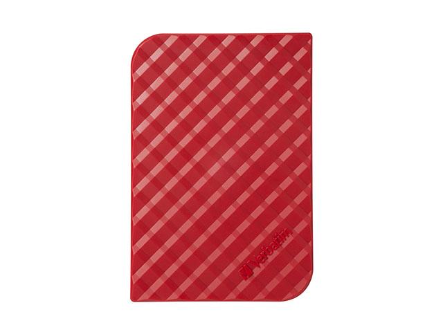 Внешний жесткий диск Verbatim Store 'n' Go Style 1ТБ (53203), красный  verbatim 1tb store n go red 53203