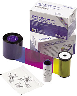 Картридж с полноцветной красящей лентой 534000-003 original datacard 535000 003 ymckt full color ribbon for cd series id card printer