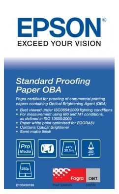 Standard Proofing Paper OBA 44, 1118мм х 30.5м (250 г/м2) (C13S450189) standard proofing paper 17 432мм х 50м 205 г м2 c13s045007