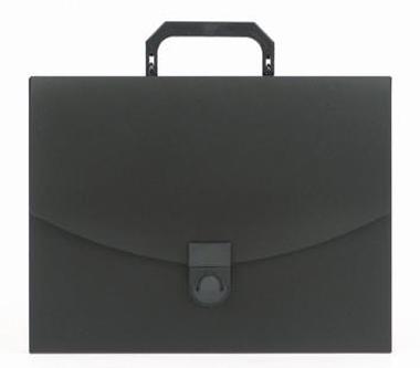 Папка-портфель Attache A4, (240×317×30мм), пластик, черная сзамком Компания ForOffice 79.000