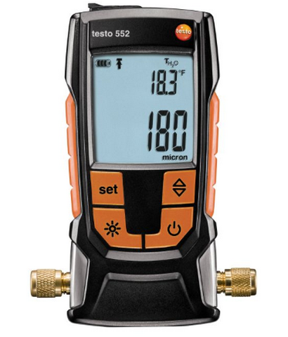 Купить Вакуумметр цифровой  Testo 552 c Bluetooth и поверкой в официальном интернет-магазине оргтехники, банковского и полиграфического оборудования. Выгодные цены на широкий ассортимент оргтехники, банковского оборудования и полиграфического оборудования. Быстрая доставка по всей стране