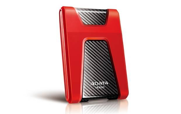 Внешний жесткий диск ADATA HD650 1 ТБ (AHD650-1TU3-CRD) красный