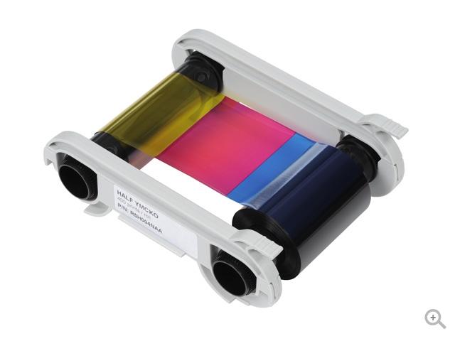 Полноцветная полупанельная лента для двусторонней печати   YMCKO+KO R7H006NAA