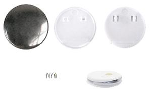 купить Заготовки для значков d44 мм, клипса/магнит, 200 шт по цене 5582 рублей