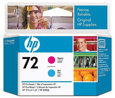 Печатающая головка HP Print Head №72 Magenta & Cyan (C9383A) печатающая головка hp print head 70 blue