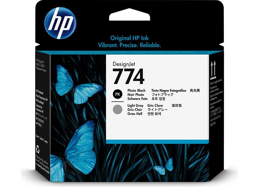 Печатающая головка HP №774 Designjet Matte Black & Cyan (P2W01A) hp designjet t830 36 f9a30a