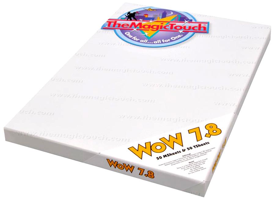 WoW 7.8/50 A4, TSheet/MSheet (Термотрансферная бумага для черного и темного текстиля) the magic touch dct 4 5c a4 термотрансферная бумага для твердых поверхностей