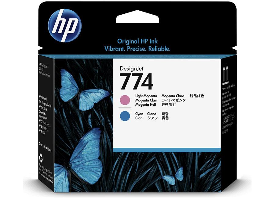 Печатающая головка HP №774 Designjet Light Magenta & Light Cyan (P2V98A) hot sales 80 printhead for hp80 print head hp for designjet 1000 1000plus 1050 1055 printer