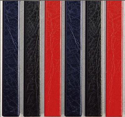 Цветные каналы с покрытием «кожа» O.CHANNEL Mundial А4 304 мм Mini, красные
