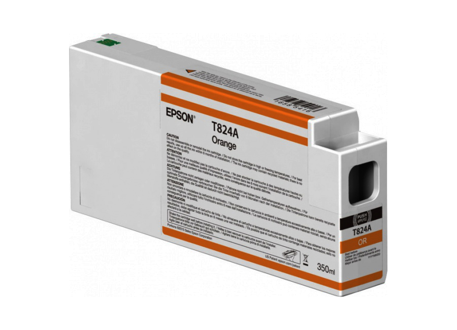 T824A Orange 350 мл (C13T824A00) принтер epson surecolor sc p9000 std c11ce40301a0