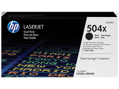 Упаковка картриджей HP CE250XD hewlett packard hp многофункциональная лазерная аппаратура для печати копии факса сканирования